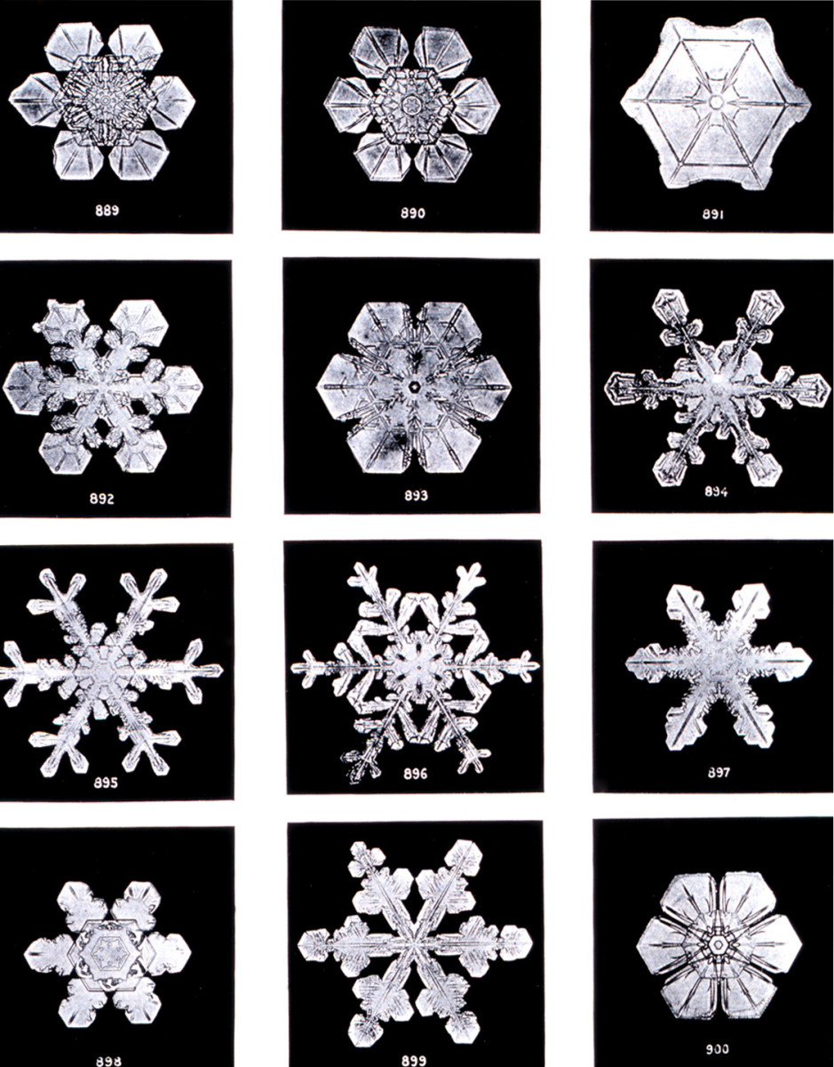 Snowflakes are fractal objects as well.