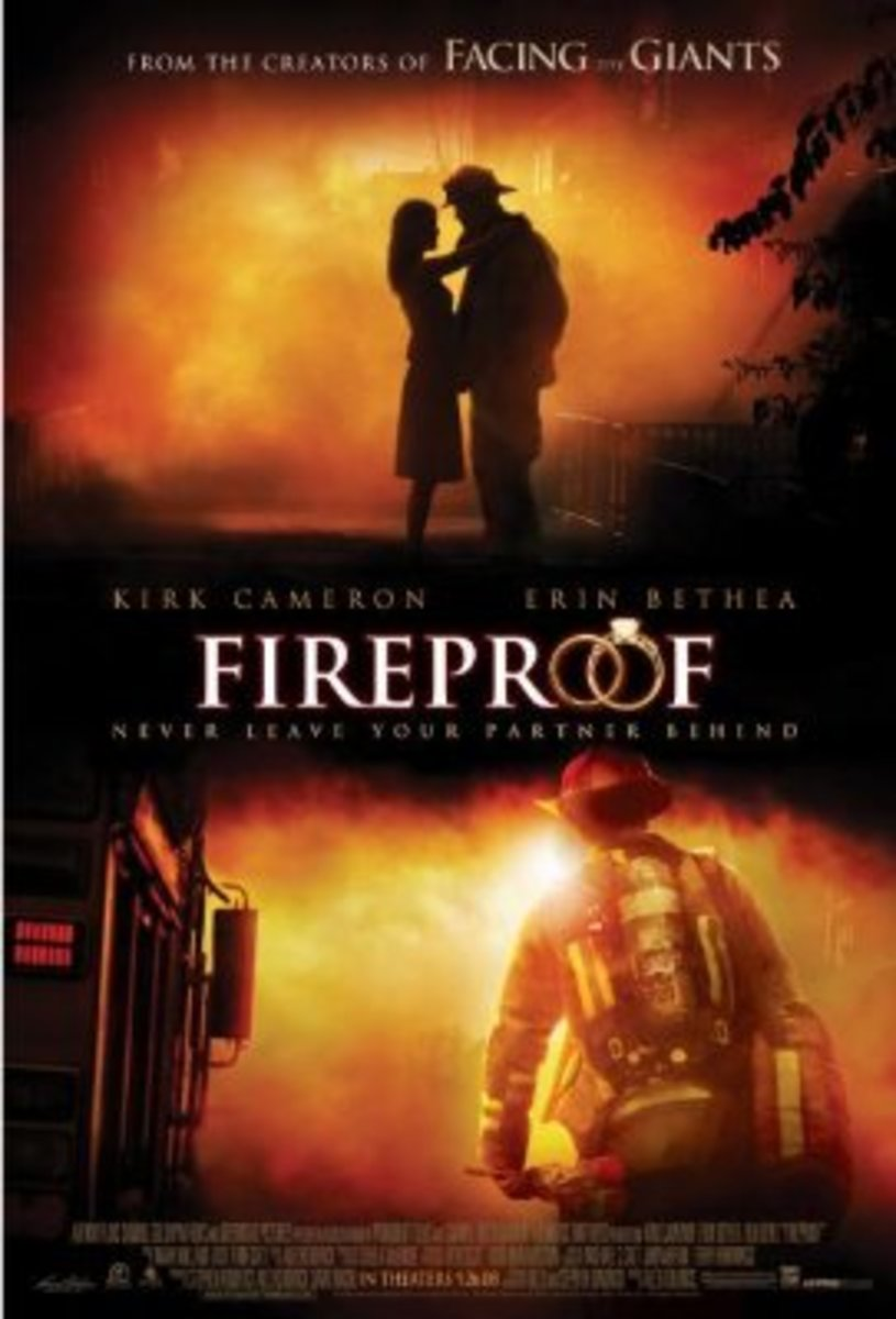 "The male lead of the Fireproof movie, Caleb Holt, is a fireman who learns the lesson that ""marriage is not fireproof""."