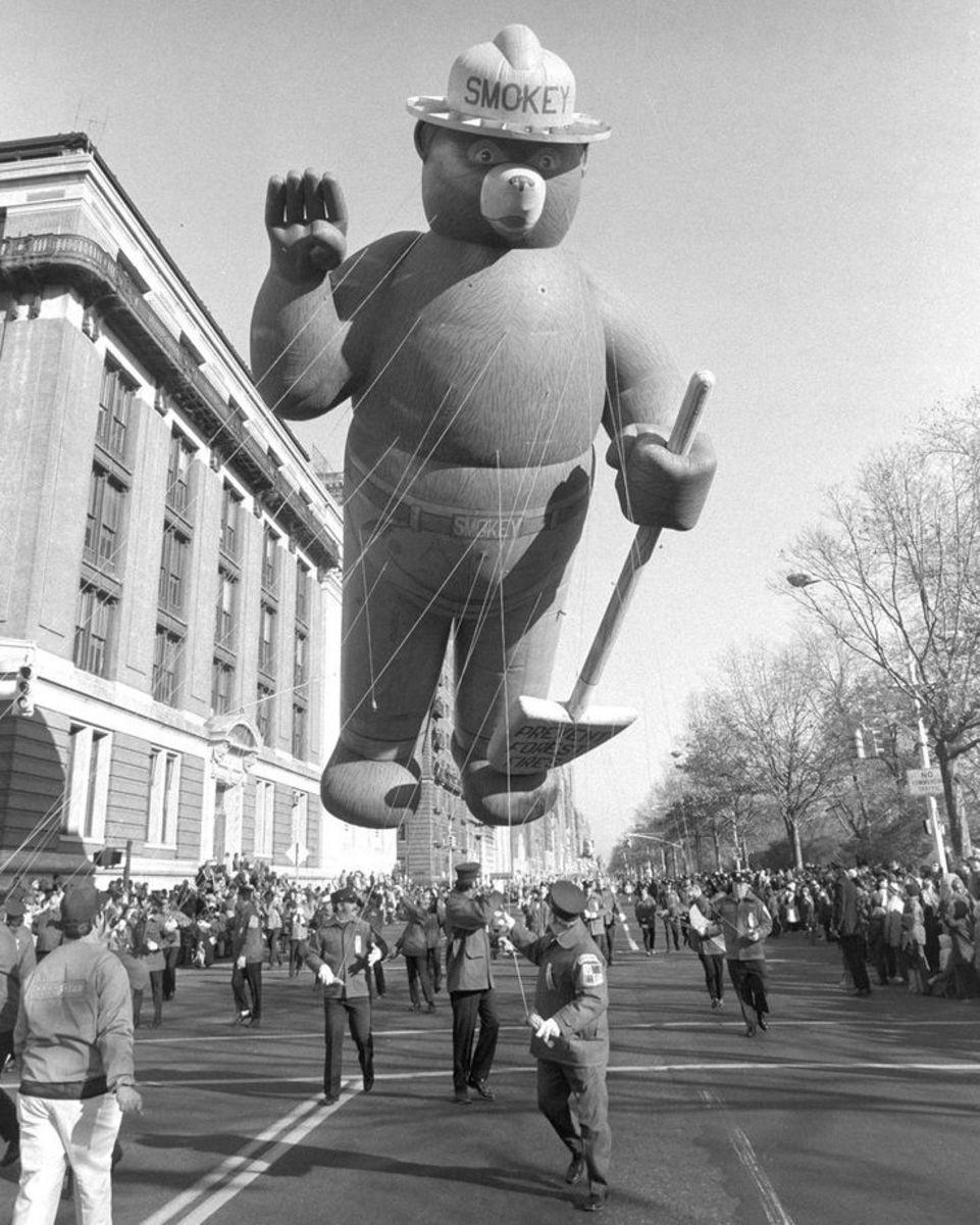 Smokey the Bear balloon from the 1966 Macy's Thanksgiving Day Parade