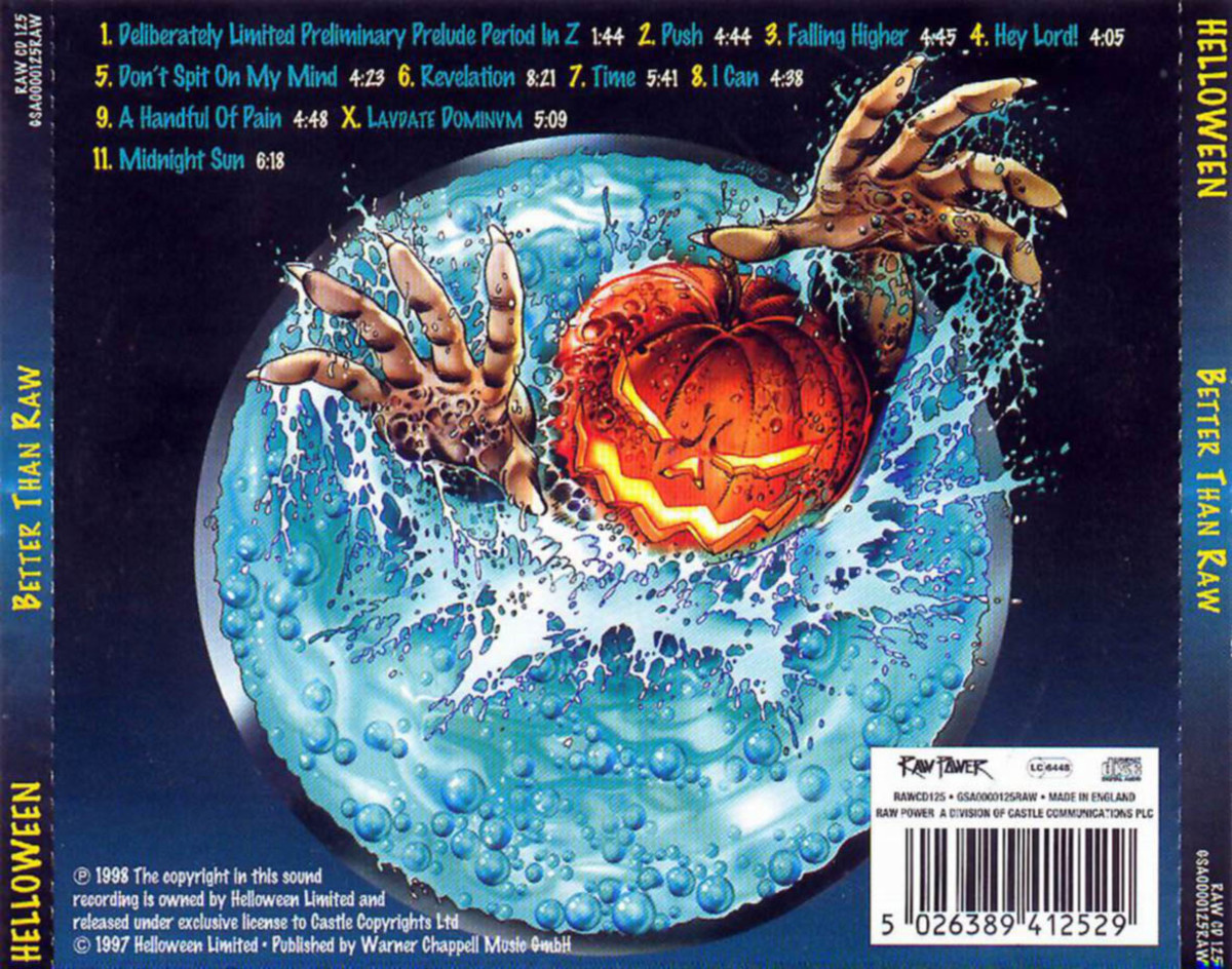 The back cover for the album has a huge round ball with a pumpkin like creature sticking its head out. The pumpkin creature has been the symbol that the band has used throughout their career.