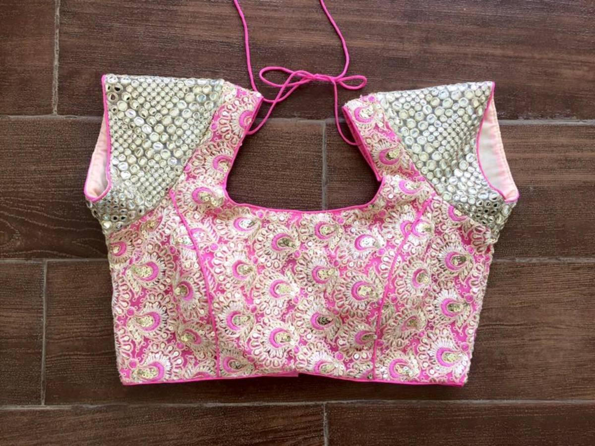 short sleeve blouse design idea
