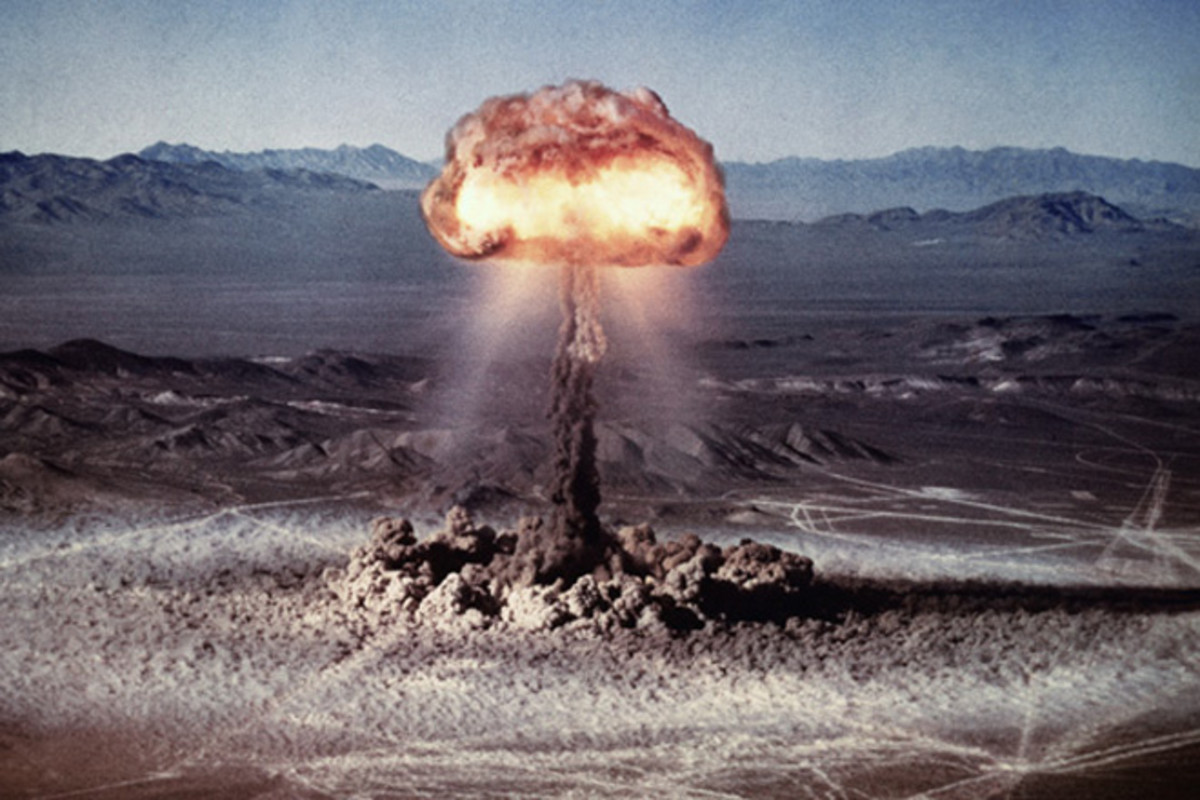A photo from a nuclear bomb test.