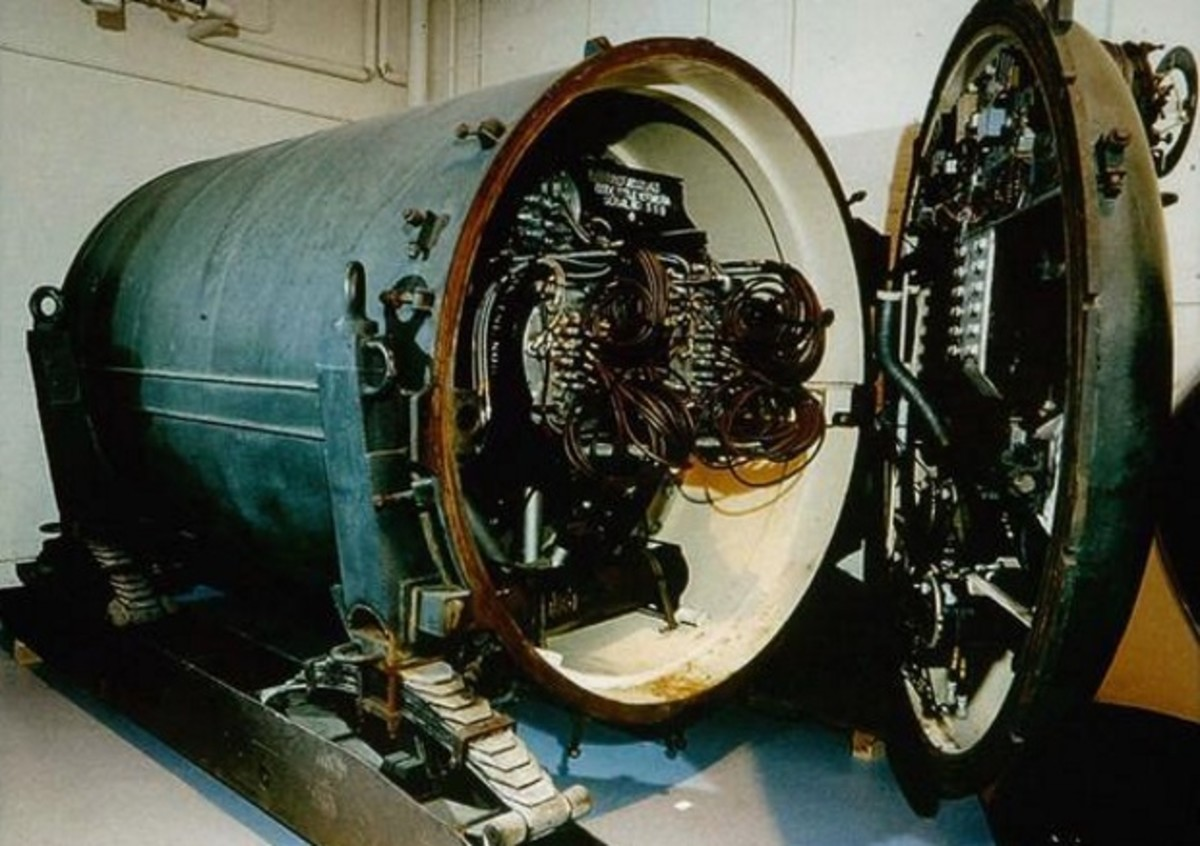 A nuke mine showing the detonator for the device.