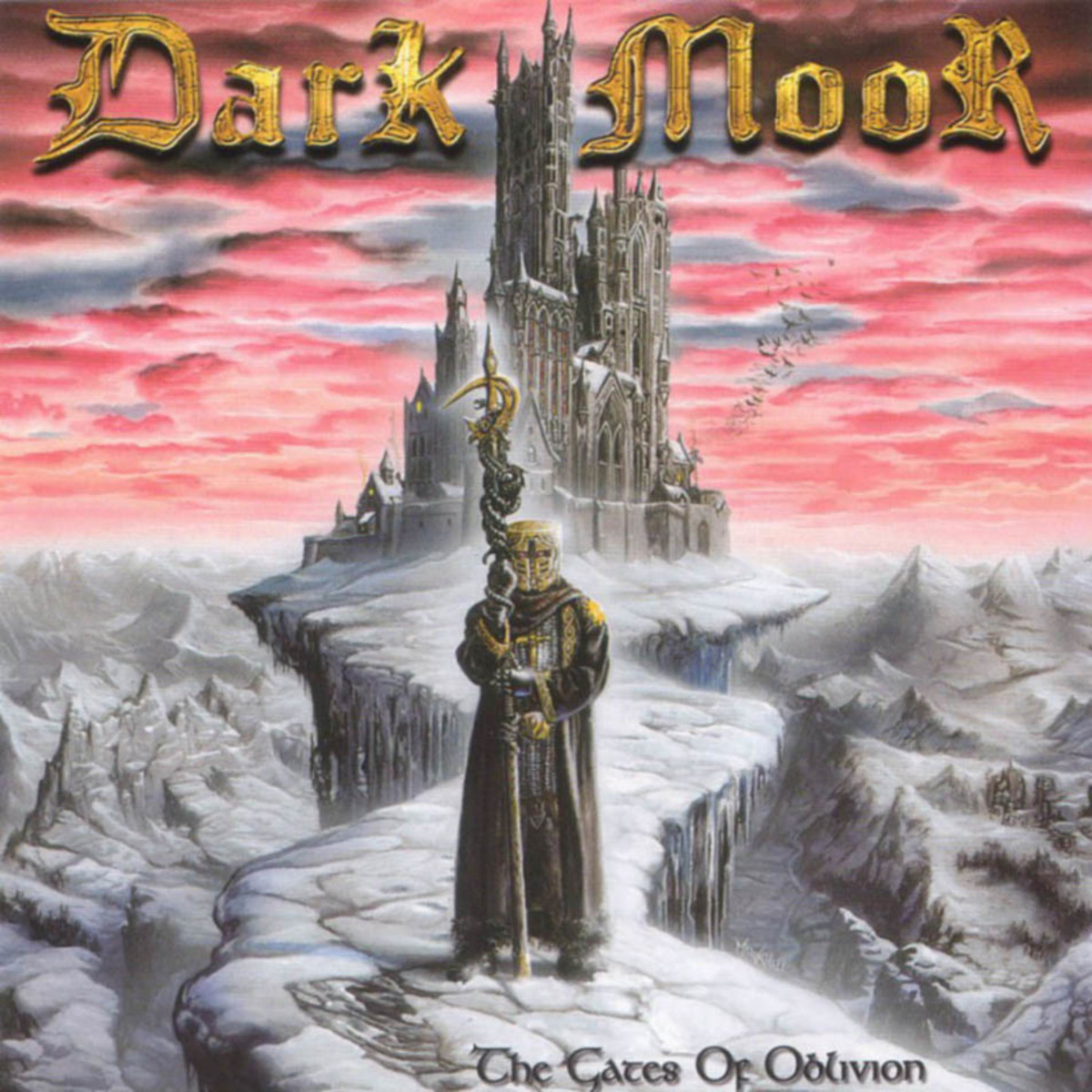 The album's cover shows a warrior or some kind of knight guarding a castle that stands in the distance. Dark Moor's album covers are similar to bands such as Rhapsody of Fire.