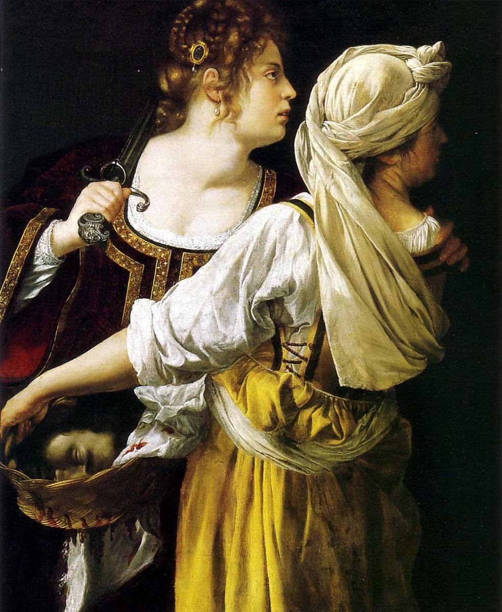 One of many paintings of Judith slaying Holofernes by Artemisia Gentileschi