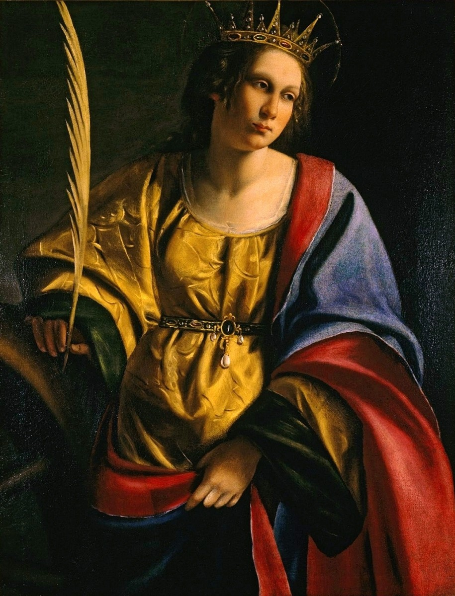 St. Catherine of Alexandria by Artemisia Gentileschi