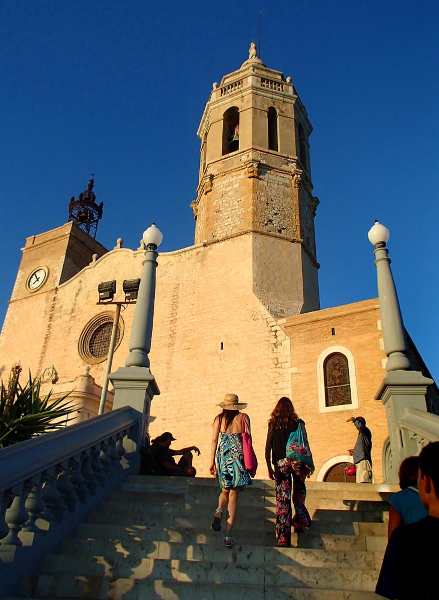 Centuries-old church Esglesia de Sant Bartomeu i Santa Tecla.