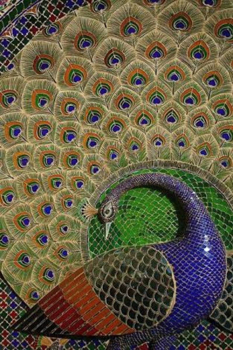Peacock decorations
