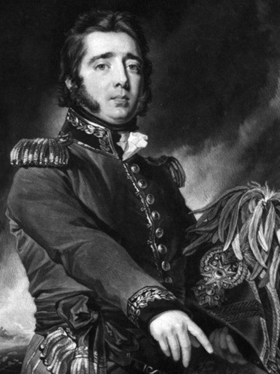 Gregor MacGregor in his military finery.