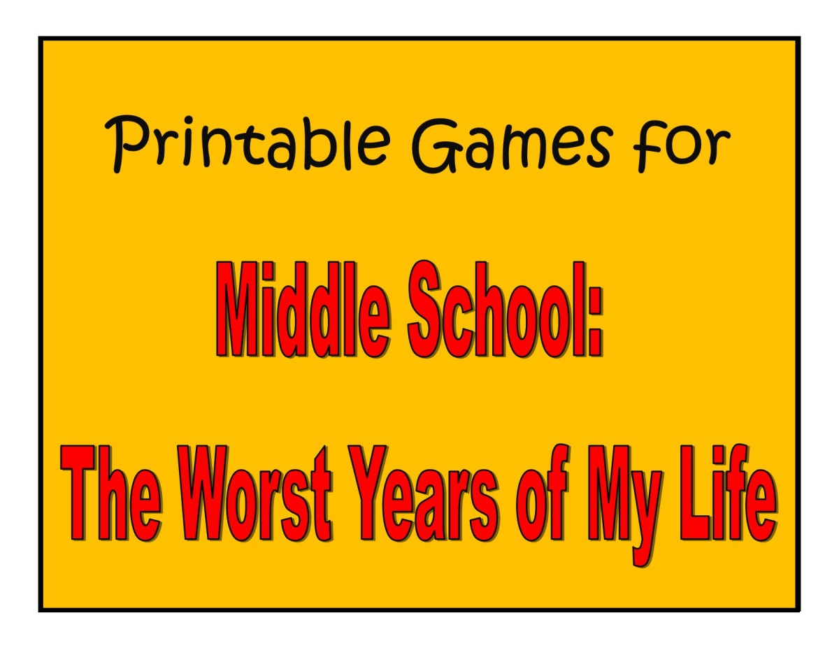 Printable Games for Middle School: The Worst Years of My Life by James Patterson