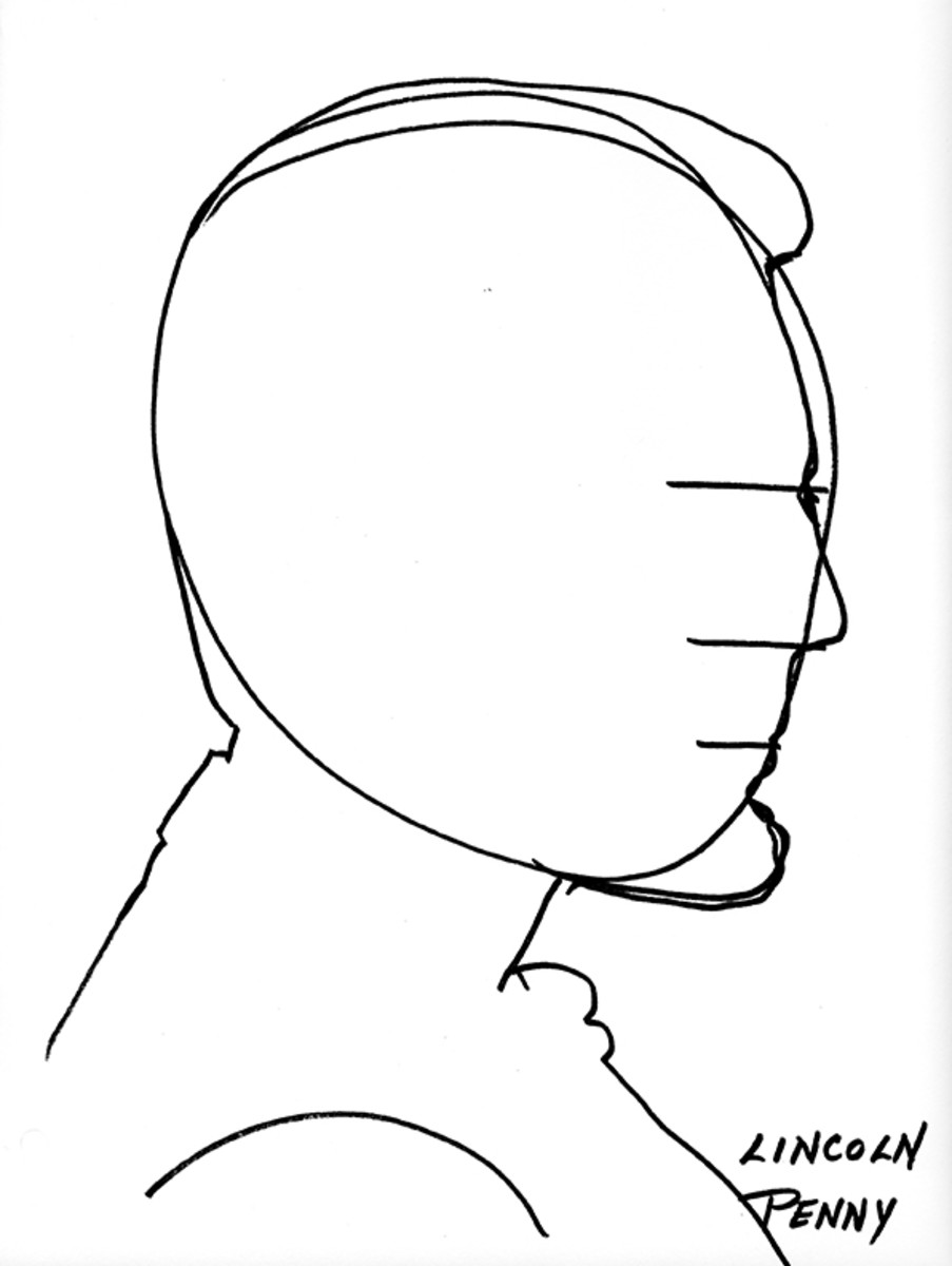 Diagram for Lincoln's silhouette.