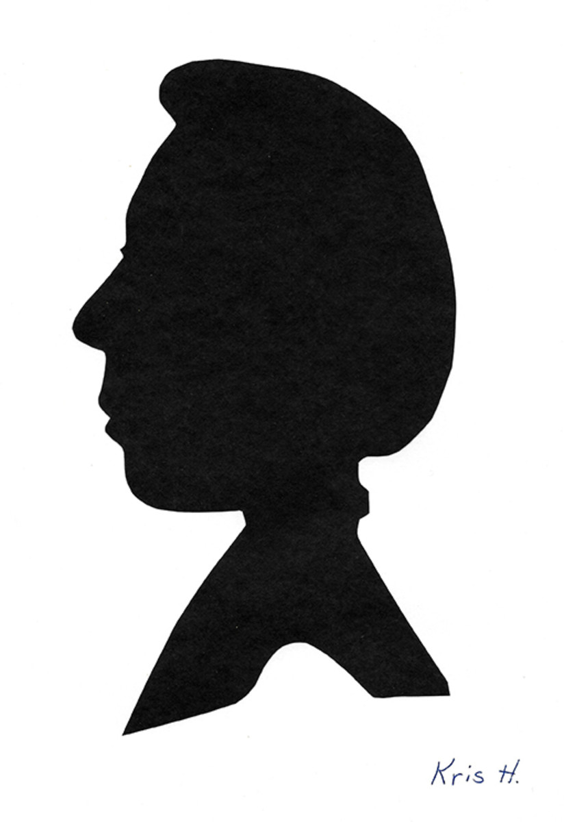 Student drawing/silhouette of his friend by Kris H.