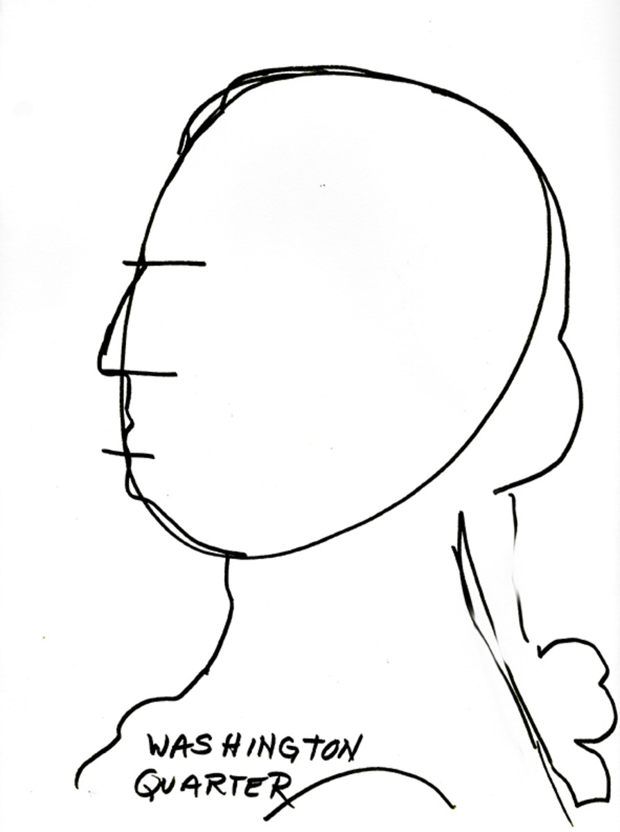 George Washington basic silhouette drawing.