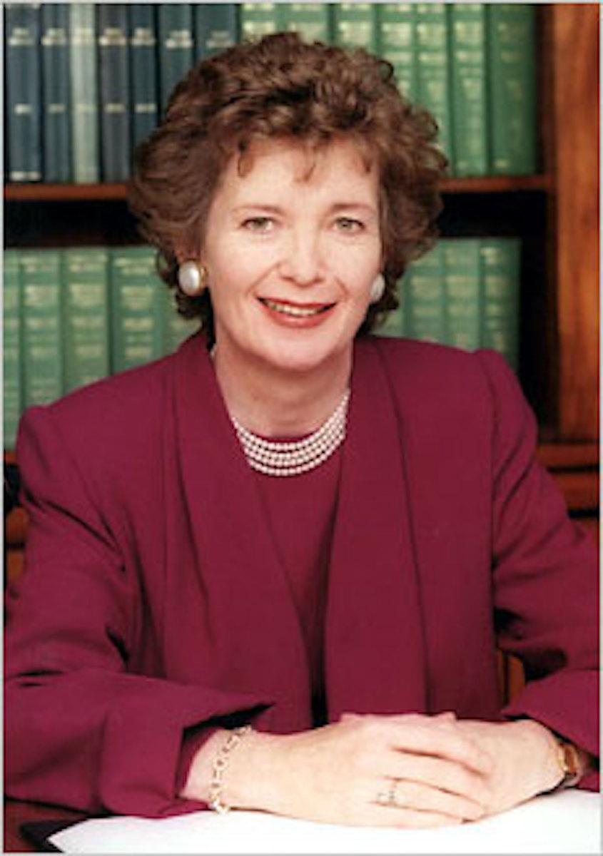 """First female president of Ireland, 1990 to 1997.  Tell this to Mary Robinson:  """"as far as history goes / we were never / on the scene of the crime."""""""