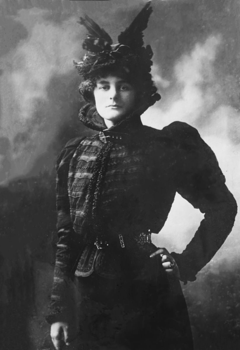 Political rebel rouser, spent time in jail for her agitations.  On and off companion of poet William Butler Yeats.  Mother of Nobel Peace Prize winner, Sean McBride.  Hardly a stagnant life!