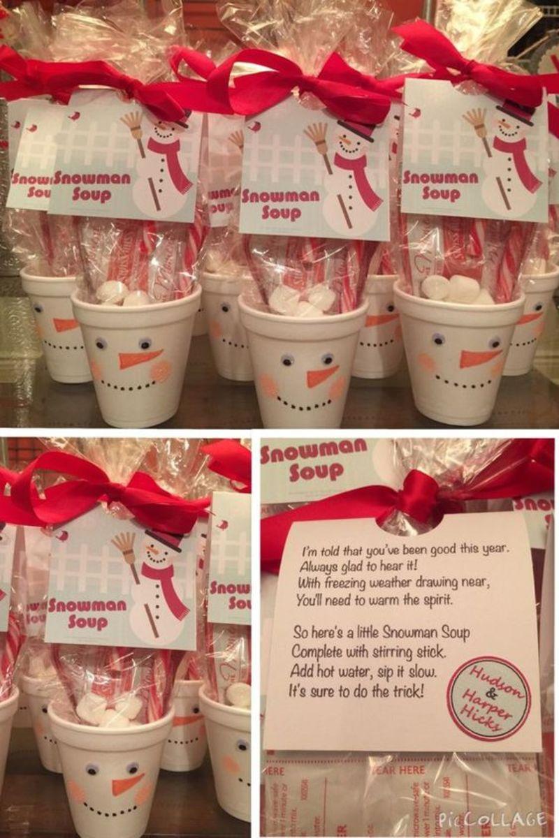 Snowman soup hot chocolate