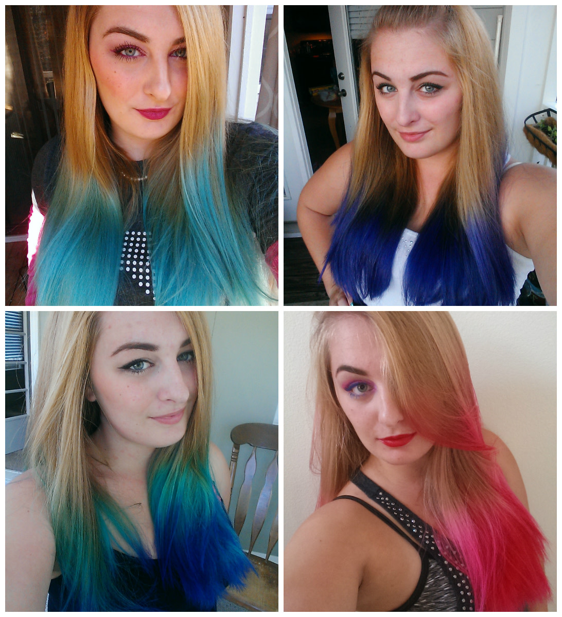 me and my many different hair colors!
