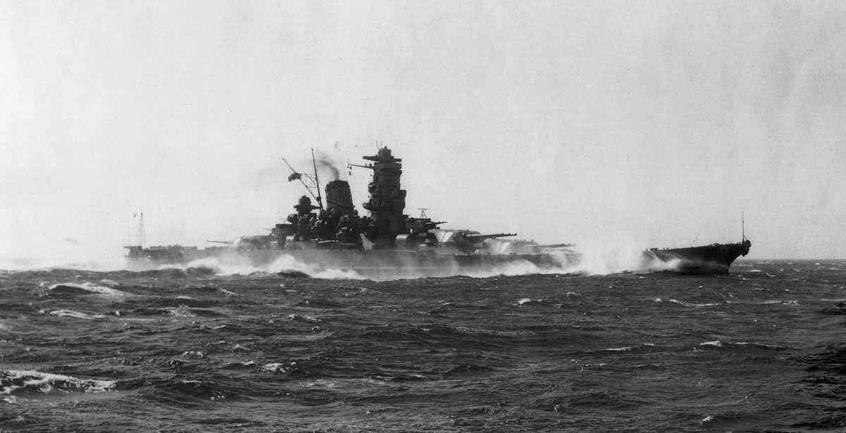 Yamato at Sea.