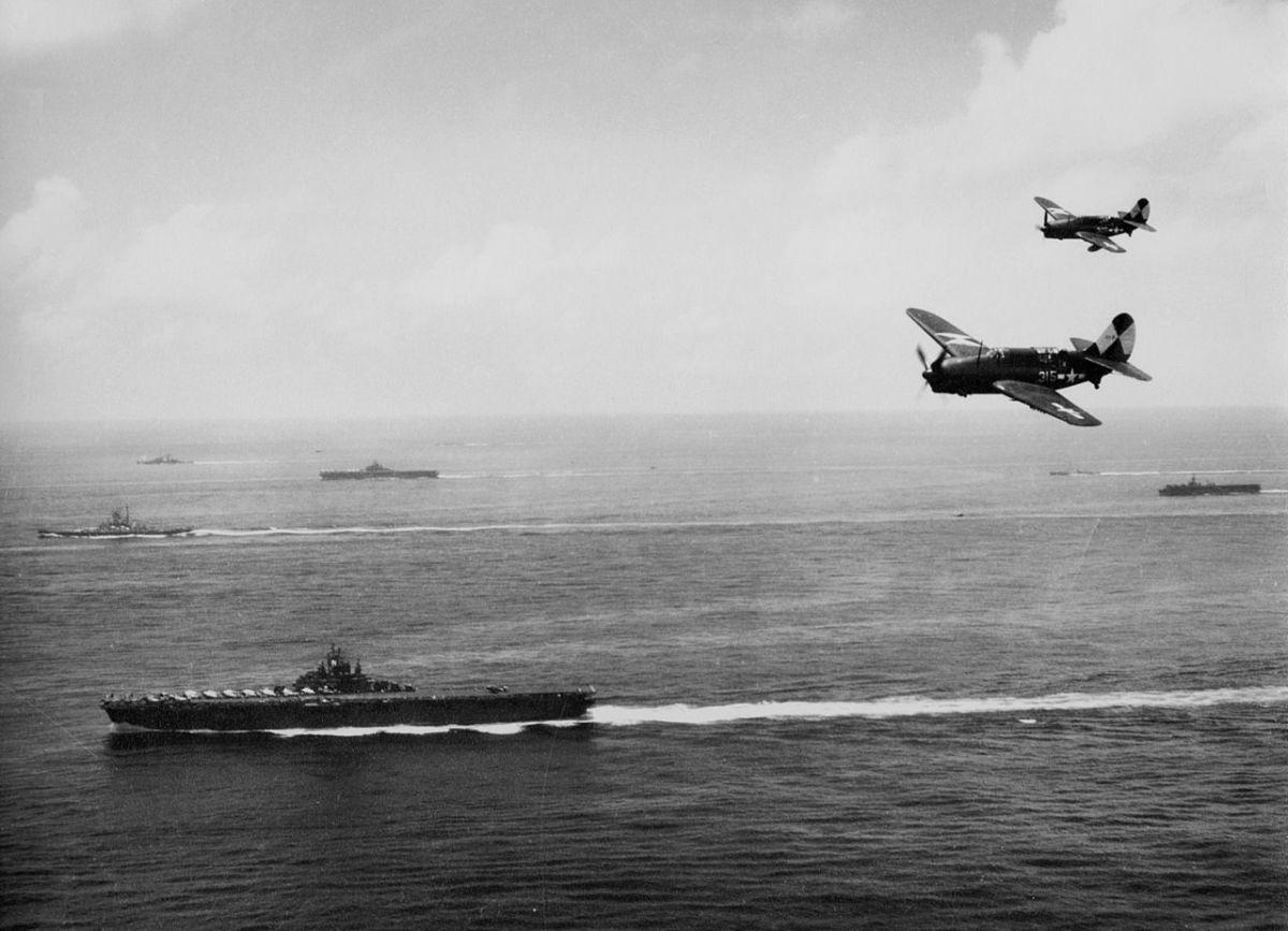 The USS Essex off Okinawa