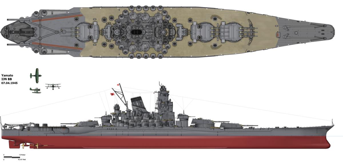 The 70,000 ton  Super Battleship Yamato 1945