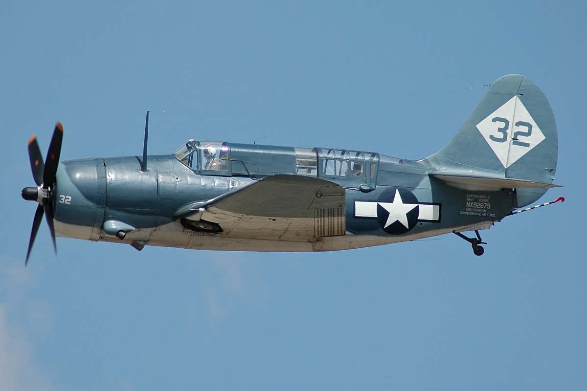 The Curtis Helldiver a carrier based plane used to bomb cities or surface ships.