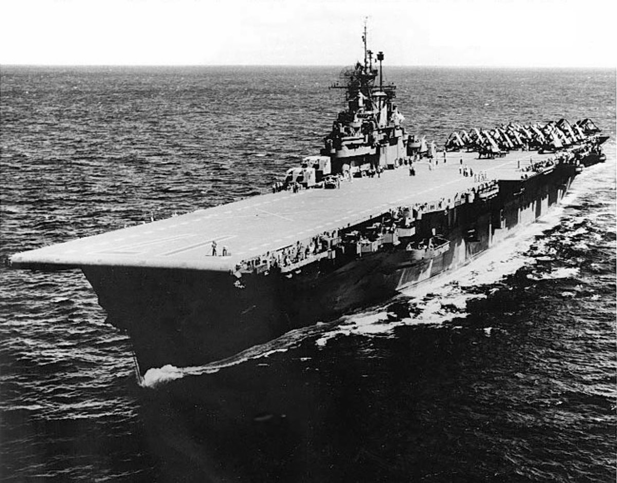 The American aircraft carrier USS Bunker Hill