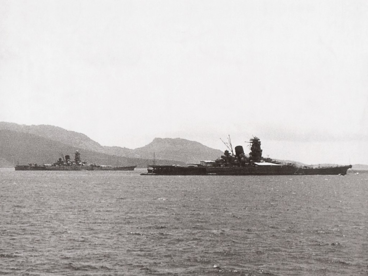 Yamato somewhere in the Pacific.