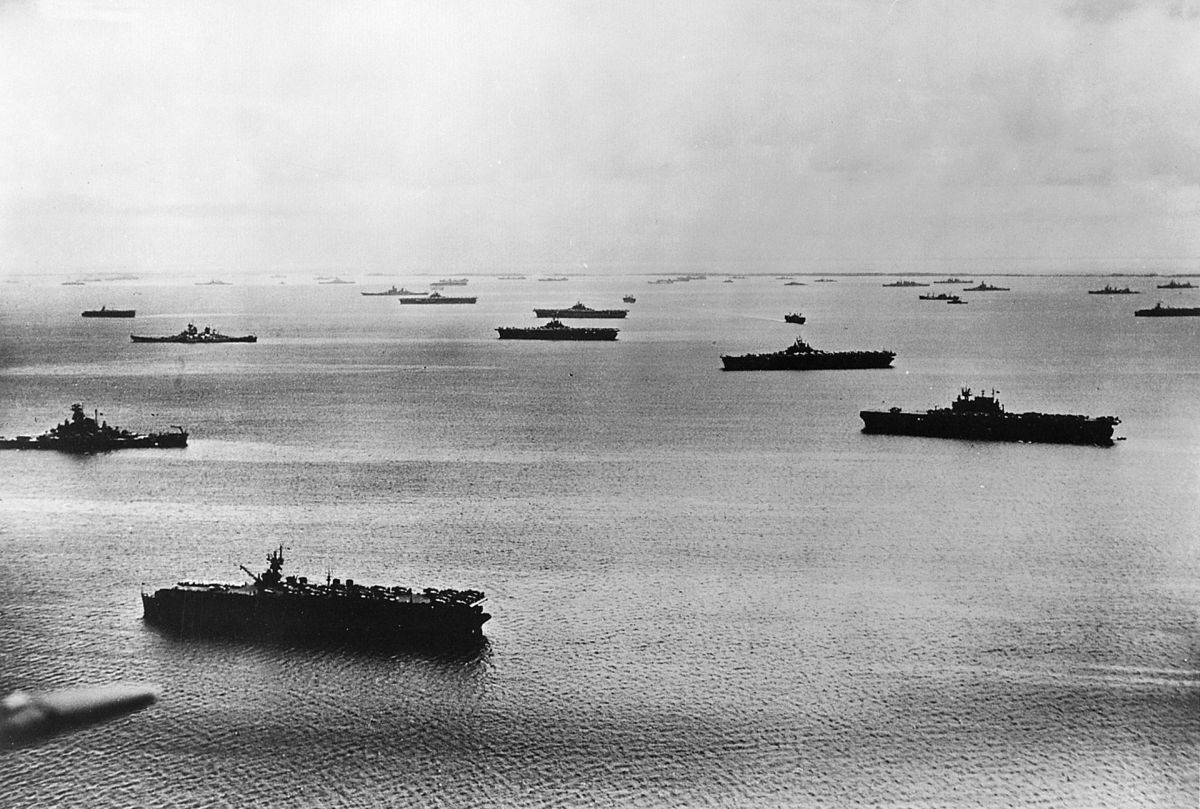 Task Force 58 off the Majuro Atoll 1944.