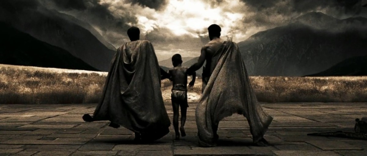 The picture is from the film 300 directed by Zack Snyder