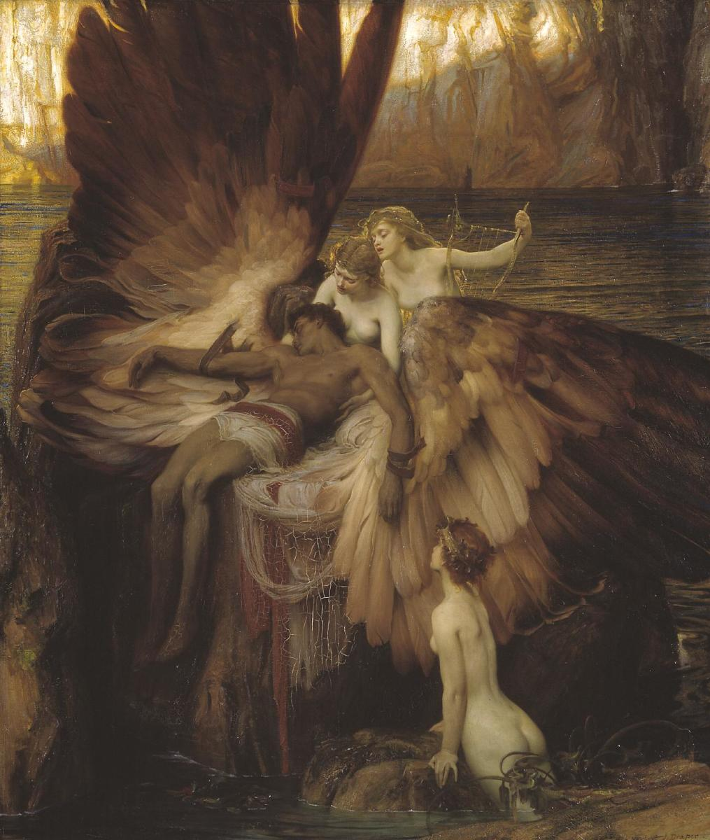 "The painting ""The Lament for Icarus"" by Herbert James Draper."