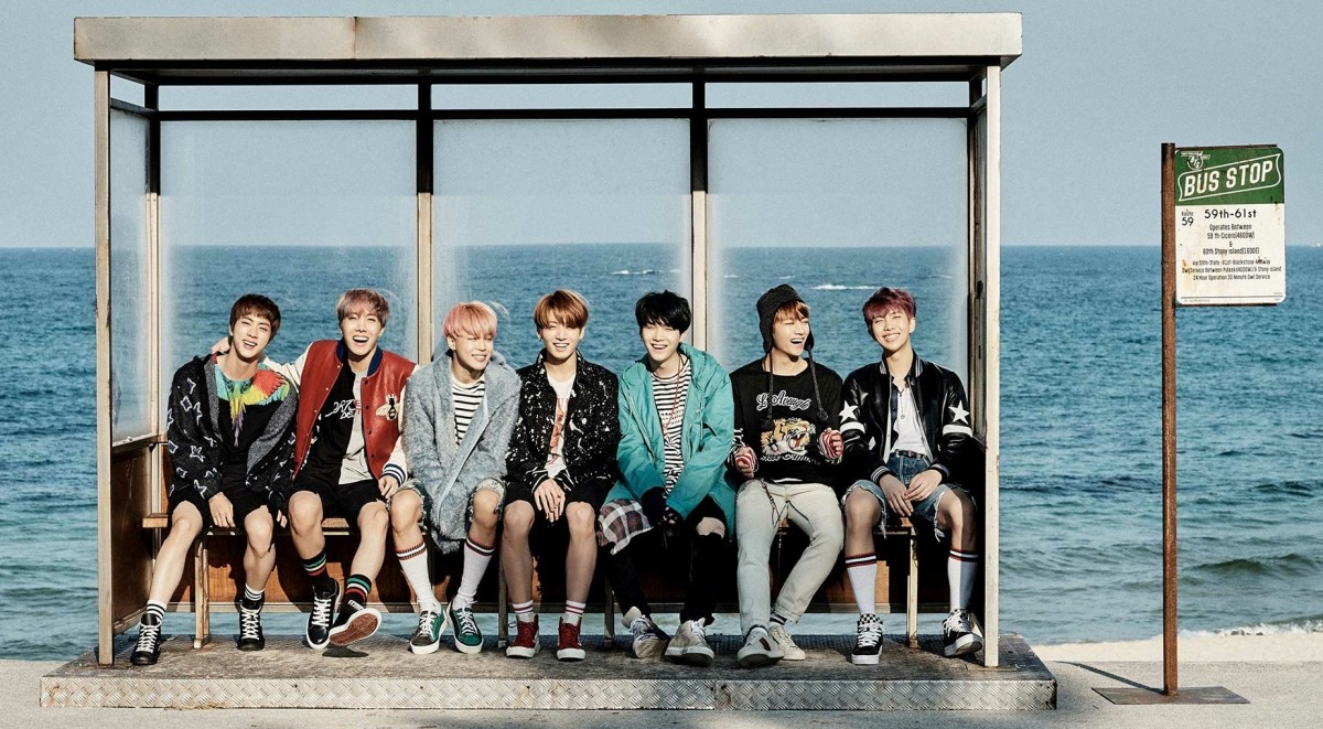 BTS members - Jin, J-Hope, Jimin, Jungkook, Suga, V and Rap Monster.