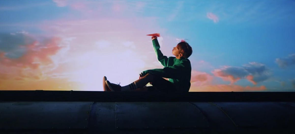 J-Hope and the paper plane.