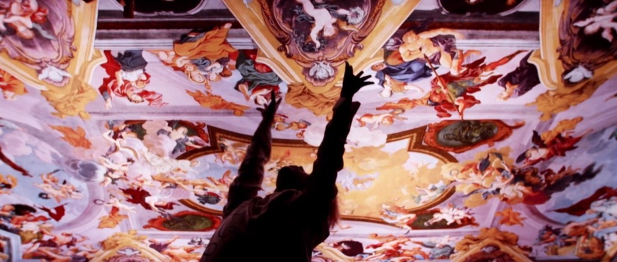 Above Jimin and J-Hope is the fresco on the ceiling in Ljubljana Cathedral painted by Giulio Quaglio the Younger.