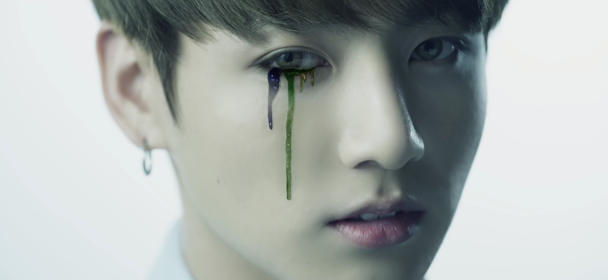 Jungkook crying colors.