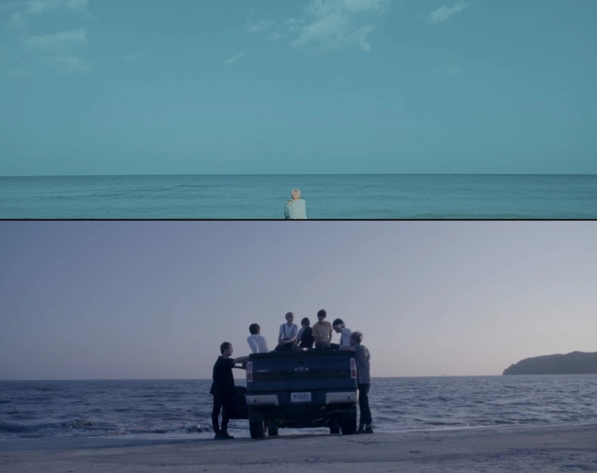 "The shore where Jimin is and the shore from ""Prologue"" and ""Run""."