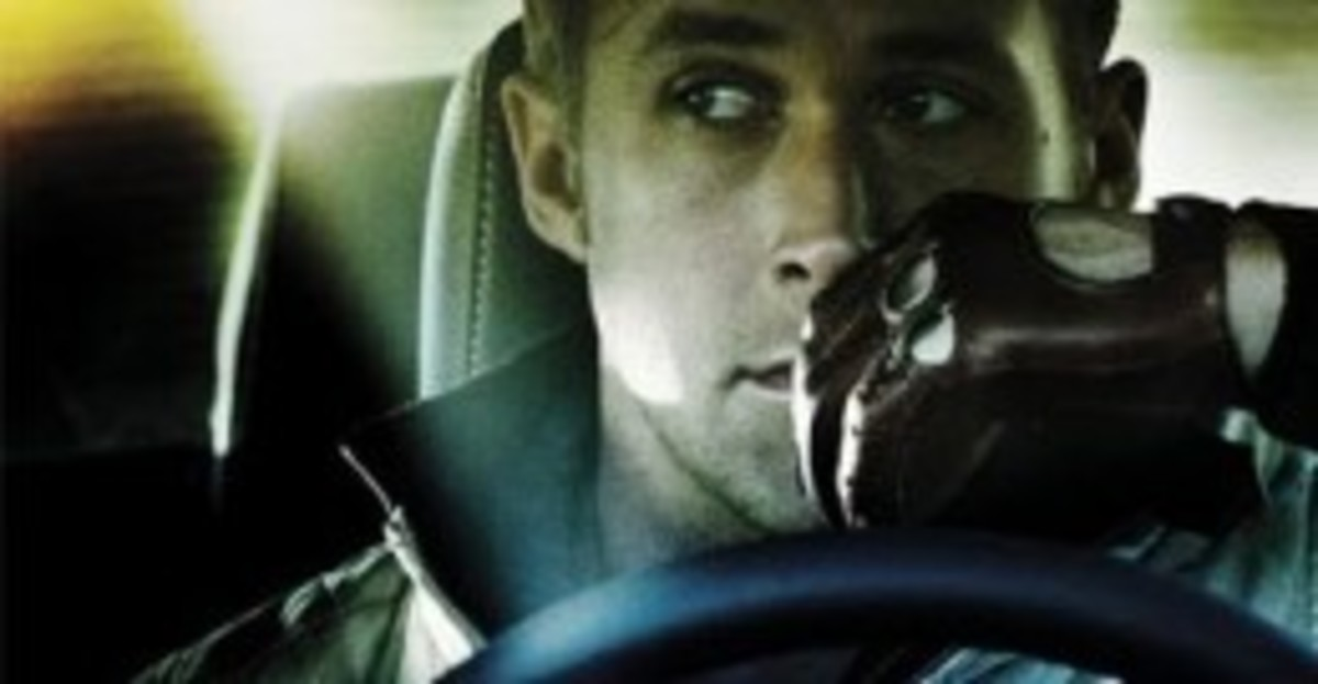 Ryan Gosling with leather driving gloves