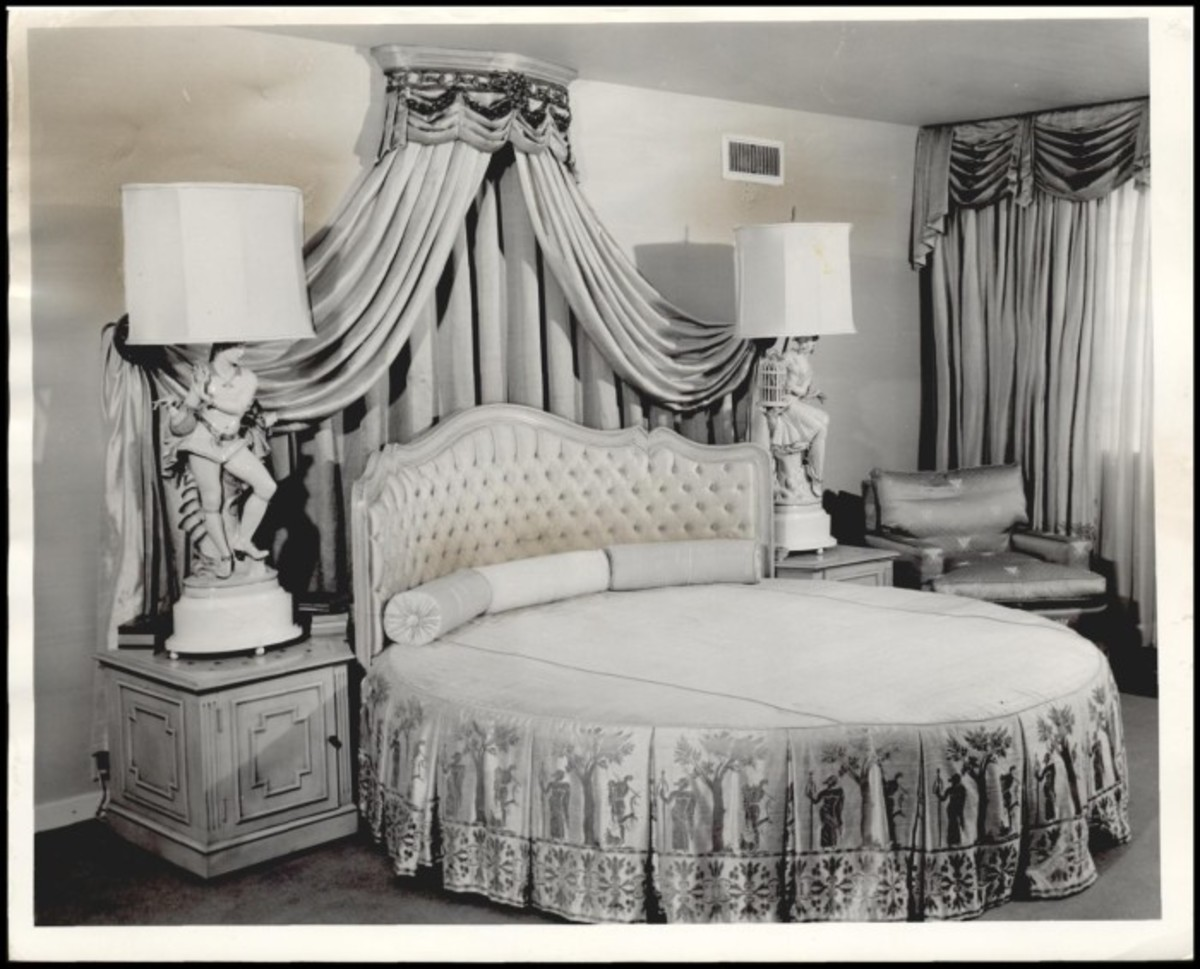 One of the bedchambers at the Kerr Mansion