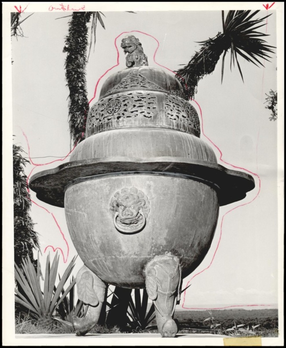Myth or Fact?  Records indicate that this large urn came from the Forbidden City in China.  While it is no longer at the Kerr Mansion, this conjures up images of lost empires.