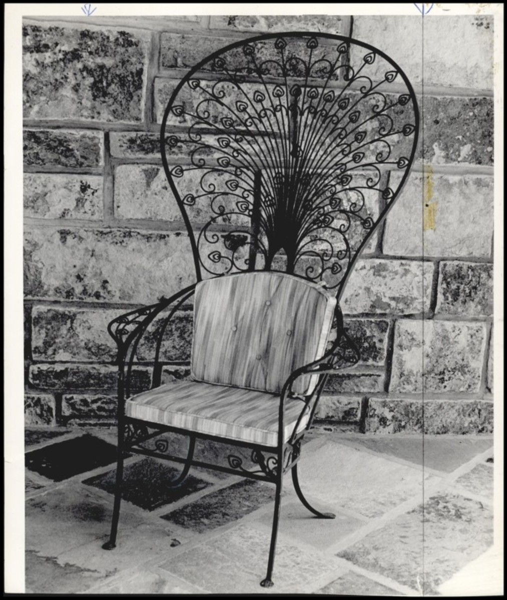 Ornate chair that used to sit on the back balcony
