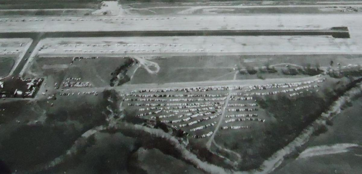 View of the Robert S. Kerr Airport during opening celebrations