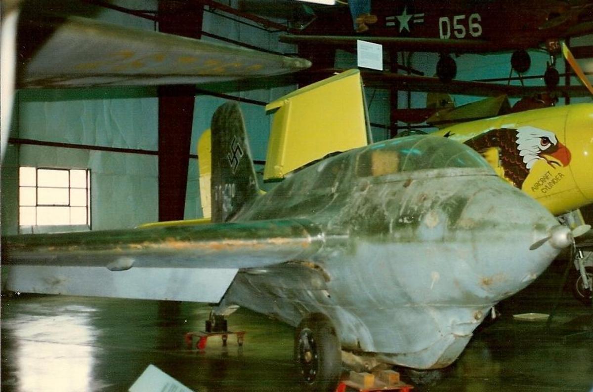 An Me-163 Komet at the Paul E. Garber Facility.