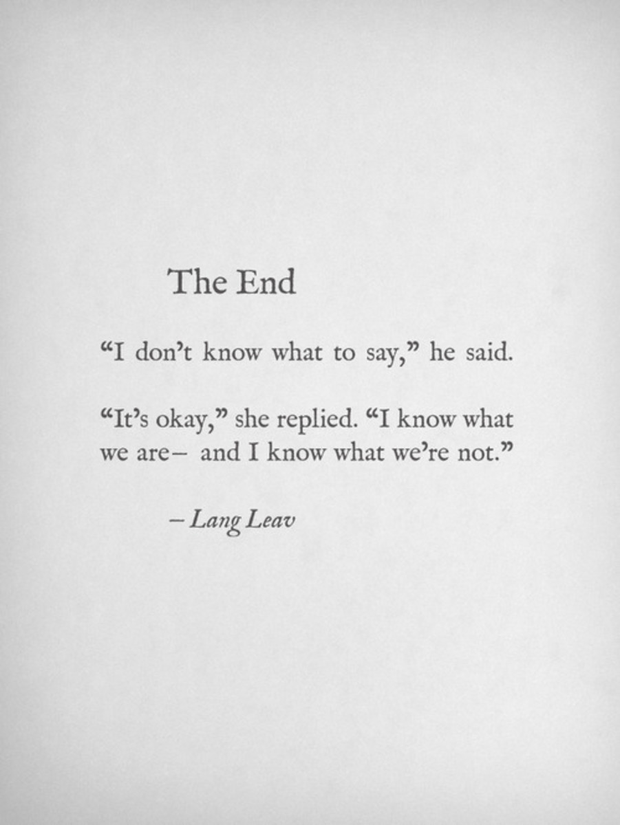 The End - Lang Leav