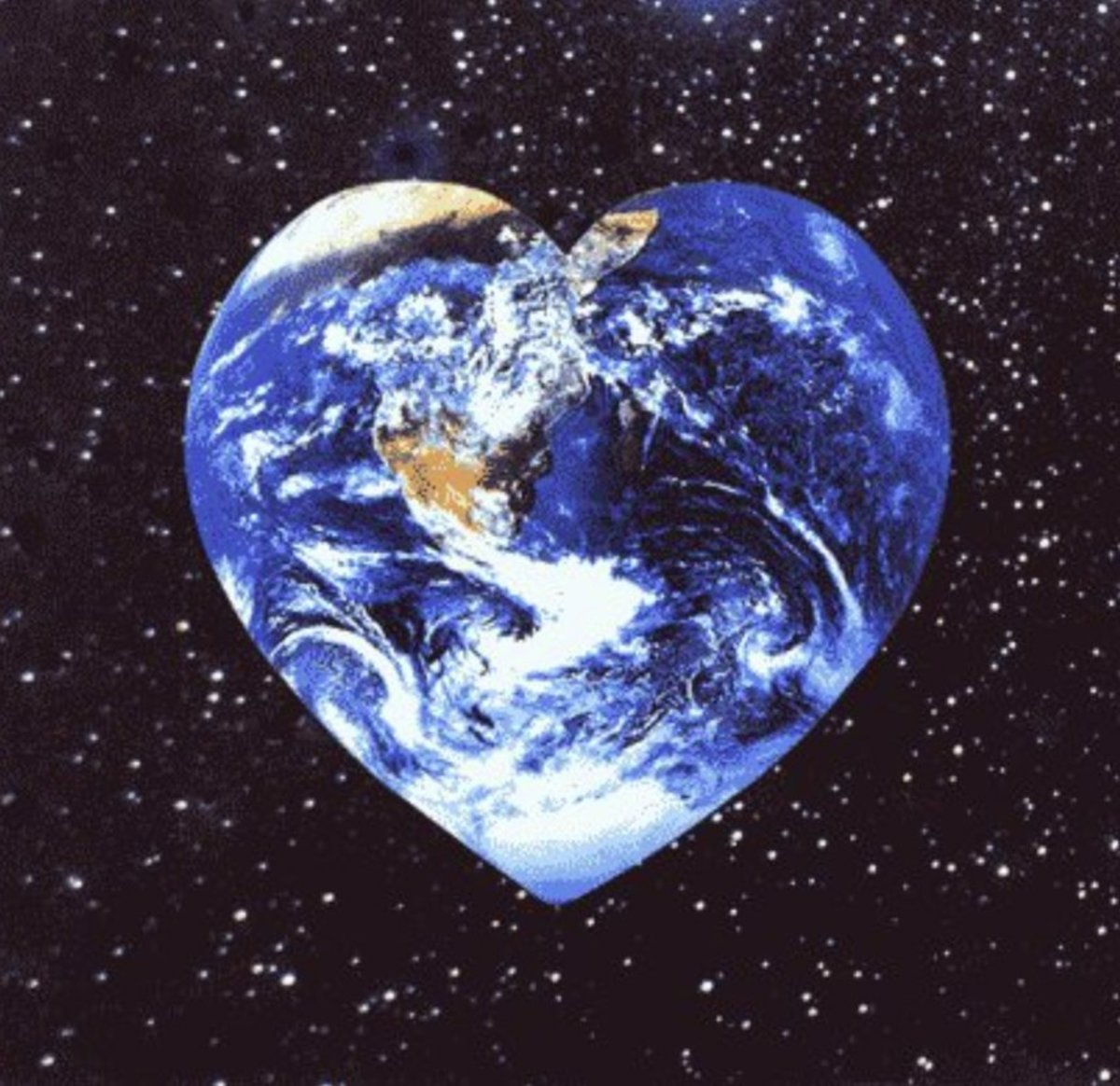 Earth Is Heart-Shaped: Earth Is The Human Heart