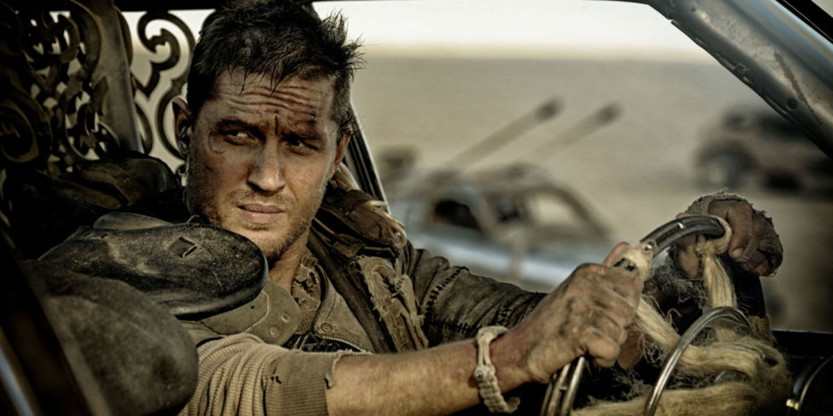 "Tom Hardy in the film ""Mad Max: Fury Road"""