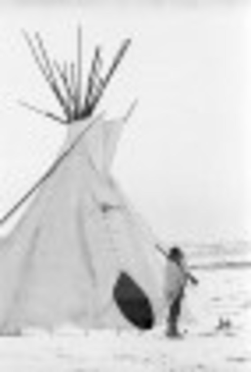 A Tee Pee at Wounded Knee, 1973