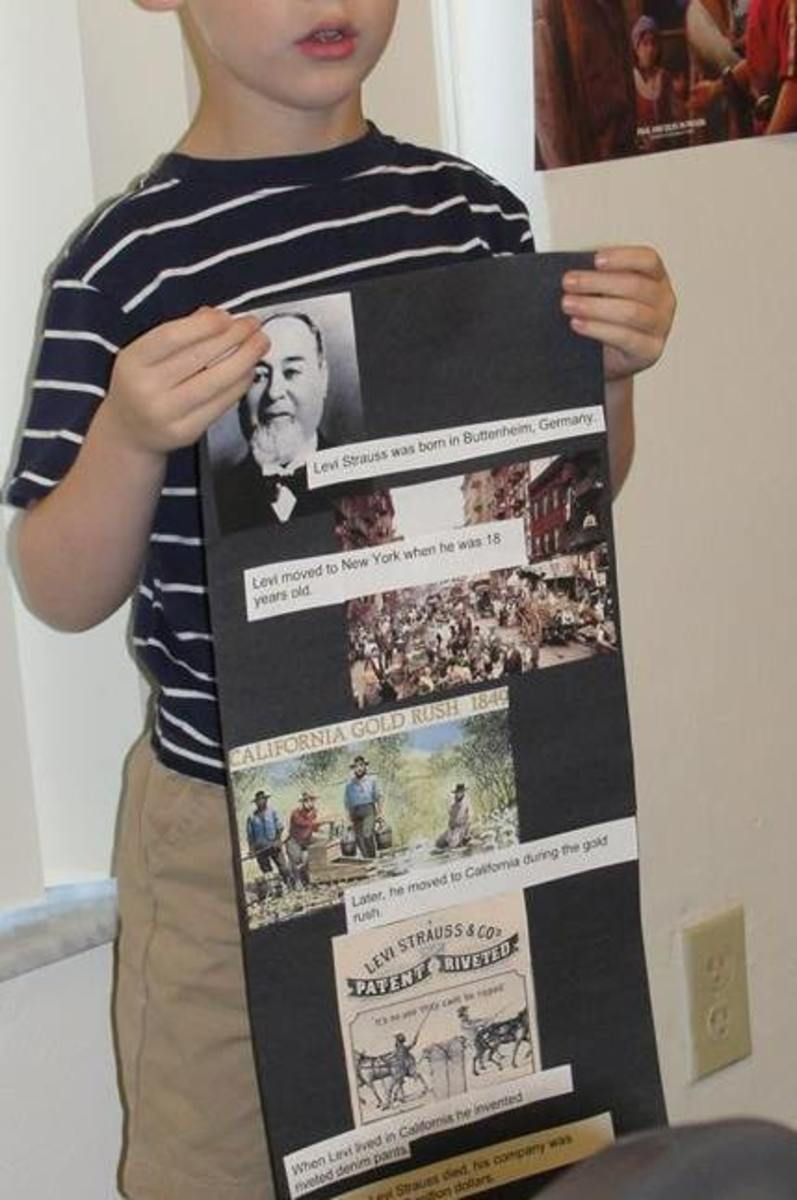 Student biography presentation on Levi Strauss