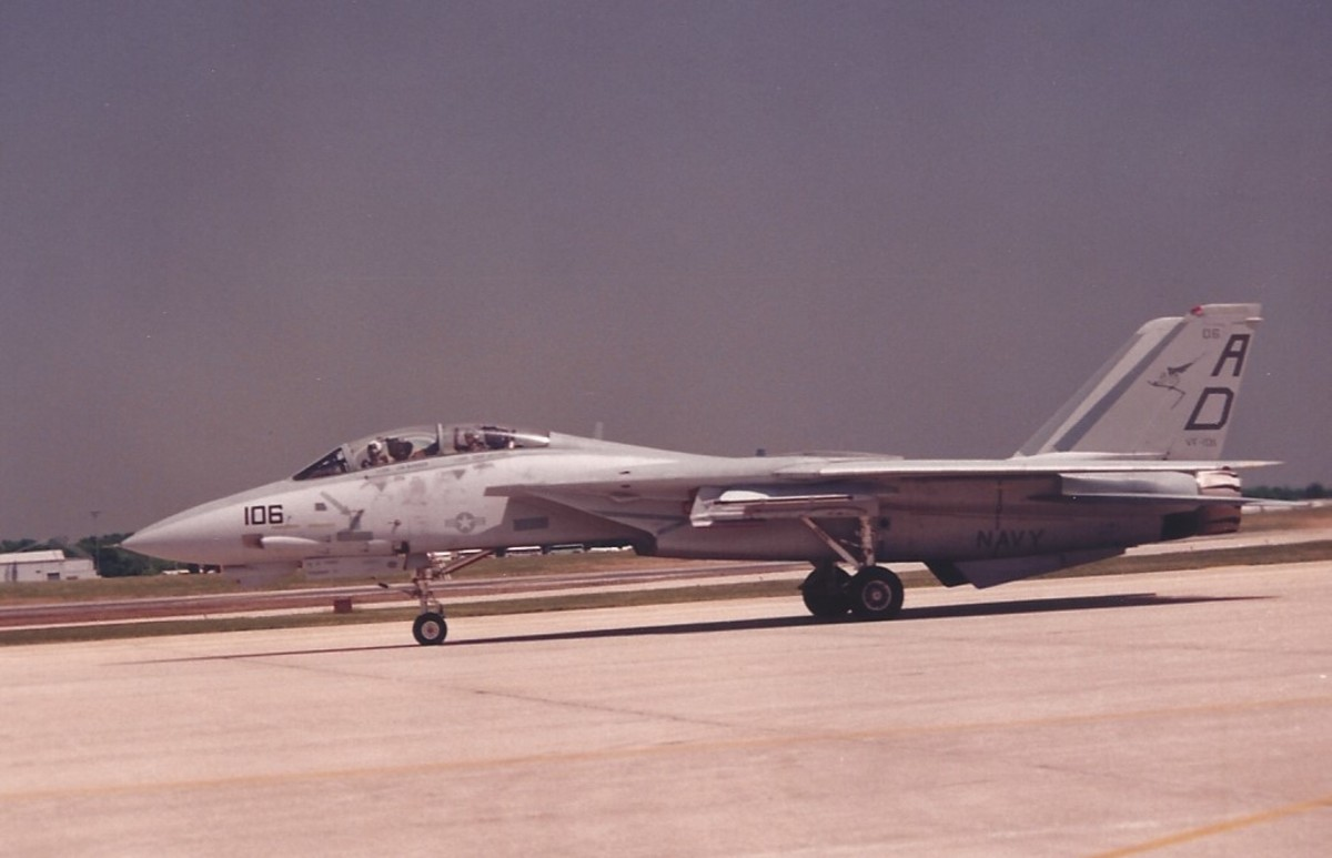 An F-14 at Andrews AFB, MD.
