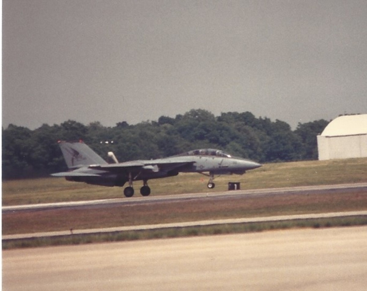 An F-14 taxiing, Andrews AFB, MD.