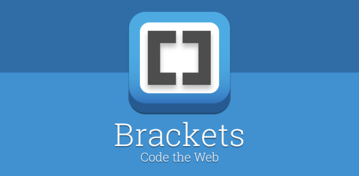 Brackets is a popular text editor that is used to write code.