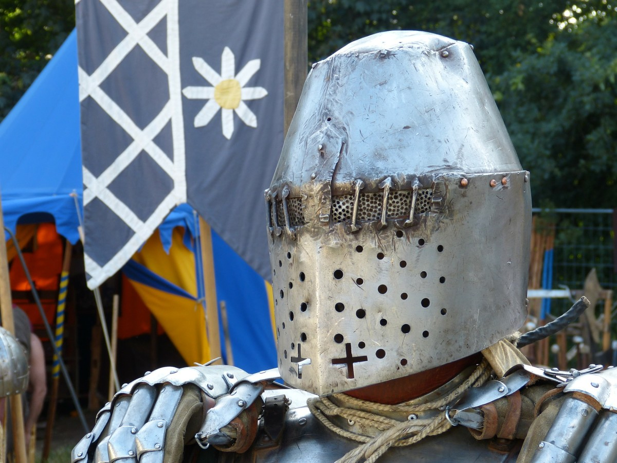 From the days of Knights and to today, metal is used in protective face and head gear.